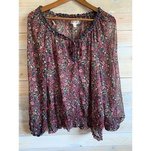 Decree sheer blouse xl